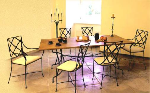 Как сочетать кованую мебель в интерьере